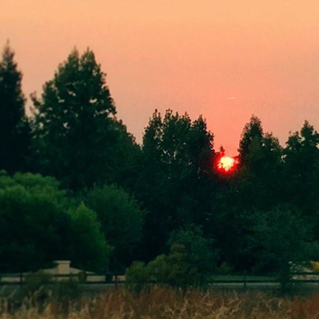 Red Sunset in California