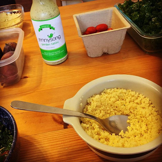 Lunch with a Good Friend in Berkeley - couscous and JennySong tahini
