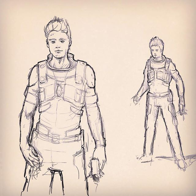 Concept Sketches for Zahn from The Truth Beyond the Sky