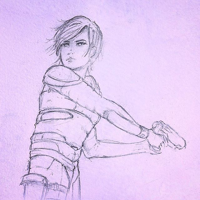 My Favorite Concept Sketch of Ashakirta, strong female character from The Truth Beyond the Sky
