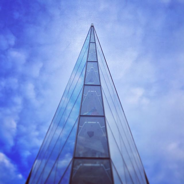 Madison Museum of Contemporary Art glass towering into the sky
