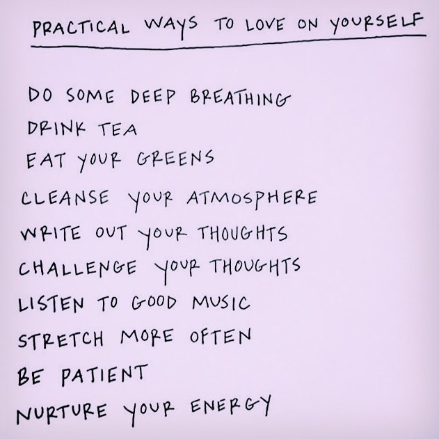 Spiritual Thoughts' practical ways to love on yourself