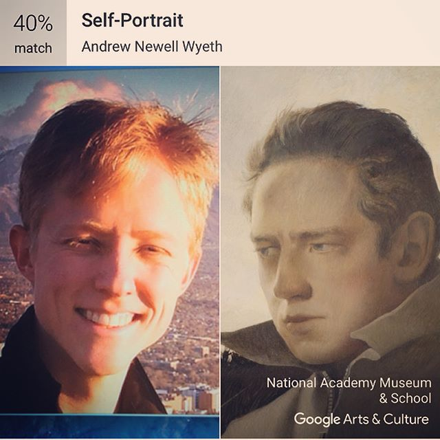 Google Arts and Culture App says I look like Andrew Newell Wyeth!