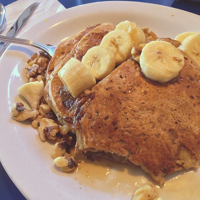 Delicious Vegan Pancakes at Monty's Blue Plate Diner