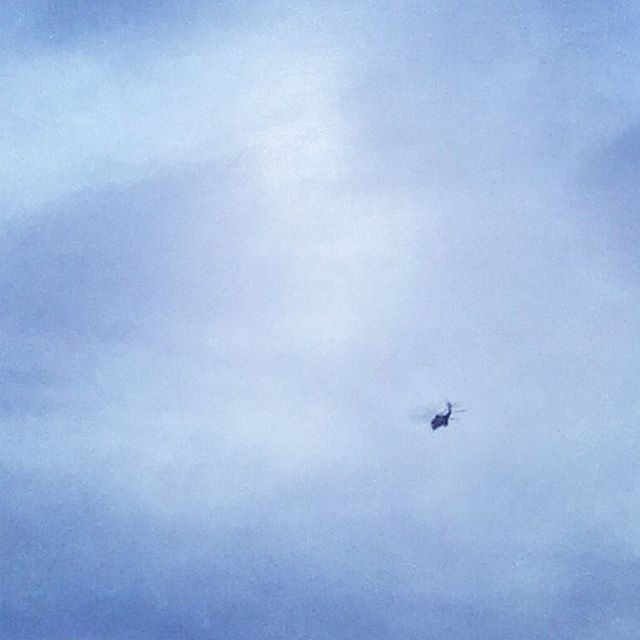 Unexpected Black Military Helicopter