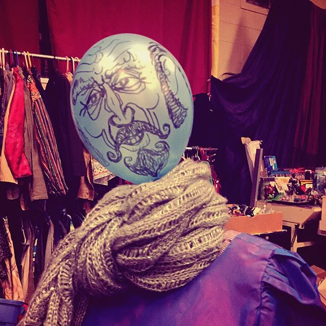 Mannequin with balloon head at Evolution Arts Collective in Madison