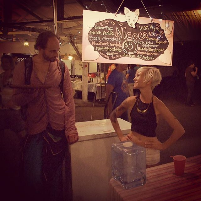 Ashley Campbell at Nicoco Gelato stand at Uncle Robert's Night Market