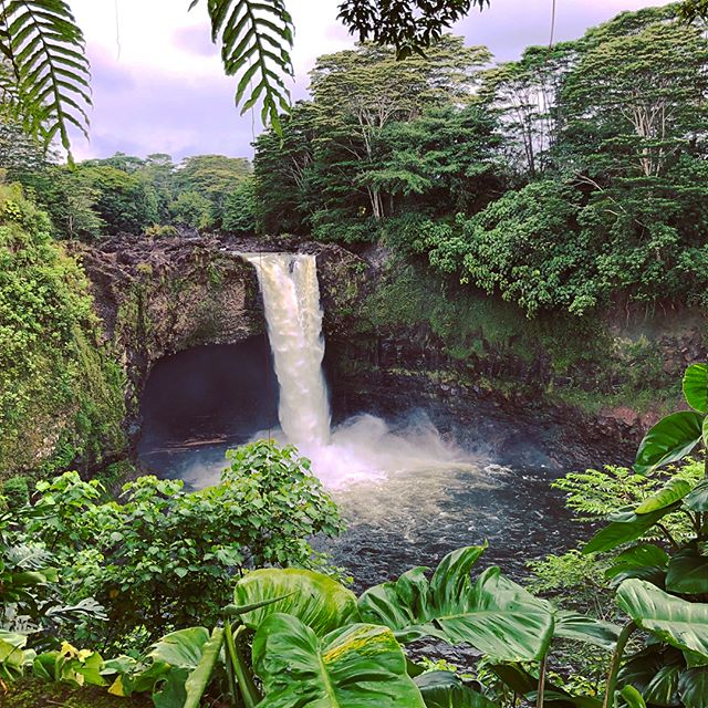 Rainbow Falls, within Hilo city limits, Big Island