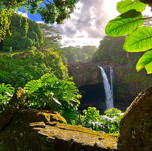 Rainbow Falls in Magical Light - Hilo, Big Island, Hawaii