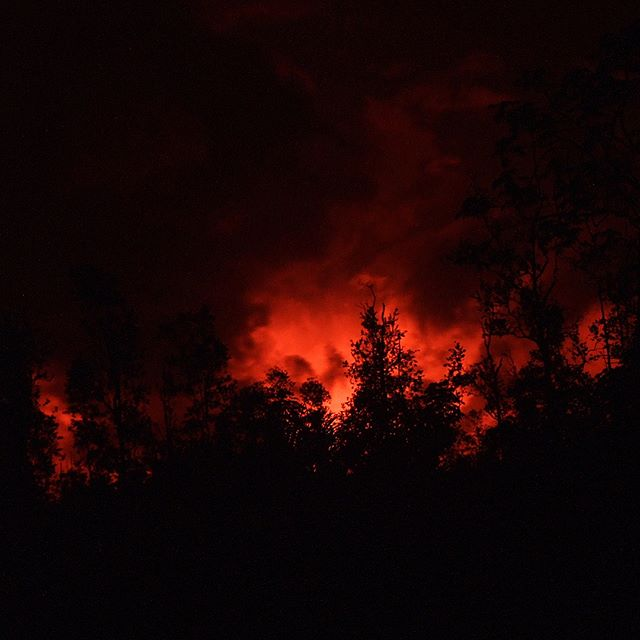 Glow in the Clouds from 2018 Lava Flow (Puna, Big Island, Hawaii)
