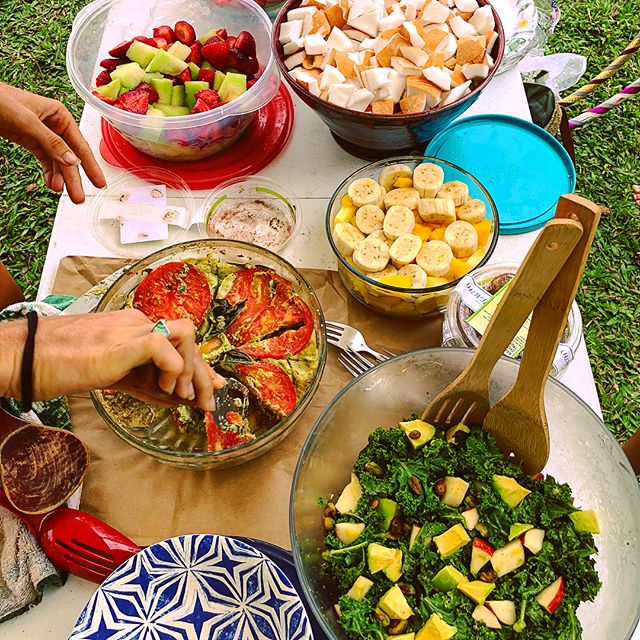 Photo: Delicious Raw Vegan Potluck At Carl Smith Beach