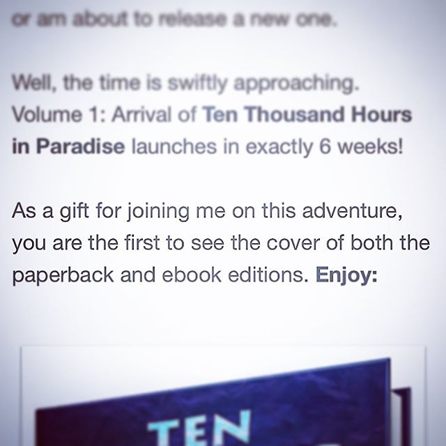 Ten Thousand Hours in Paradise Cover Reveal Teaser