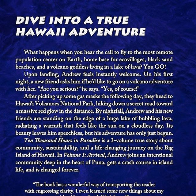 New Back Cover description for Ten Thousand Hours in Paradise: Arrival