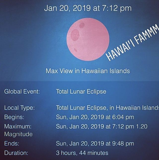 Ready for the Lunar Eclipse on Hawaii?