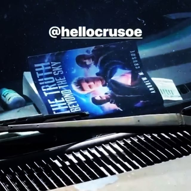 The Truth Beyond the Sky Mythic Sci-Fi novel spotted in the wild on Big Island, Hawaii