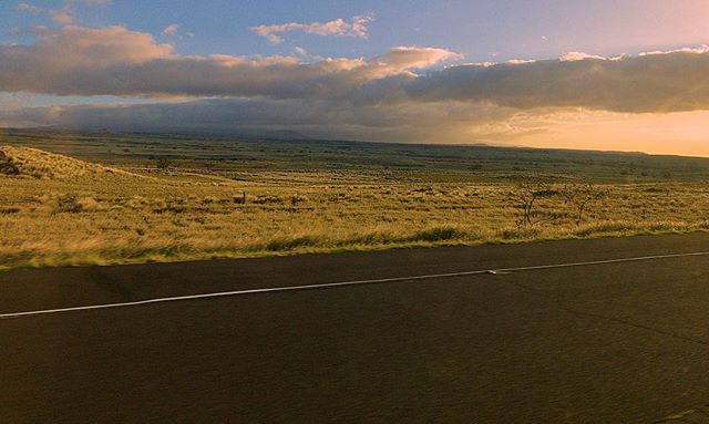 Sunset over Dry Plains near Waimea, HI