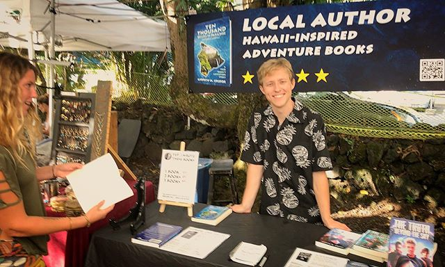 Indie author fun at Uncle Robert's Night Market
