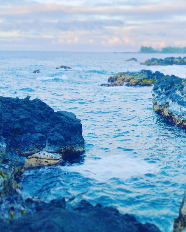 Lava rocks at Carlsmith Beach Park, Hilo, HI