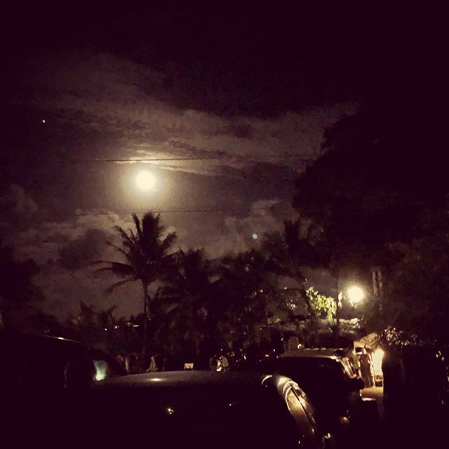 Full Moon over Night Market (Kalapana, Hawaii)