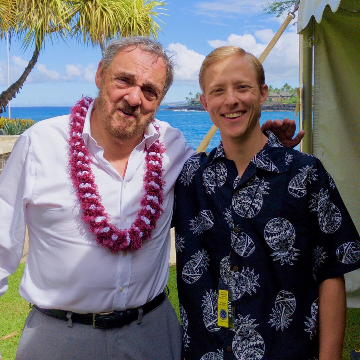 John Rhys-Davies and Andrew Crusoe at HawaiiCon 2019