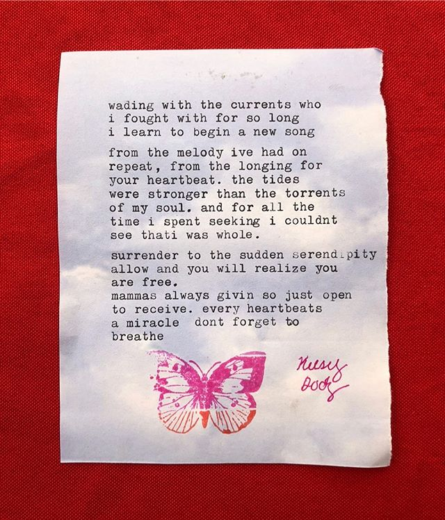 A Profound Poem about Allowing and Surrender by Kelsey