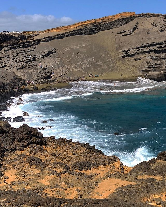 Hike to Green Sand Beach, South Point, Big Island, Hawaii