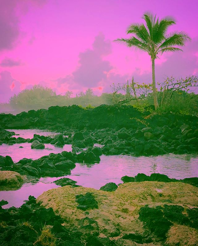 Psychedelic Colors on Lava beach
