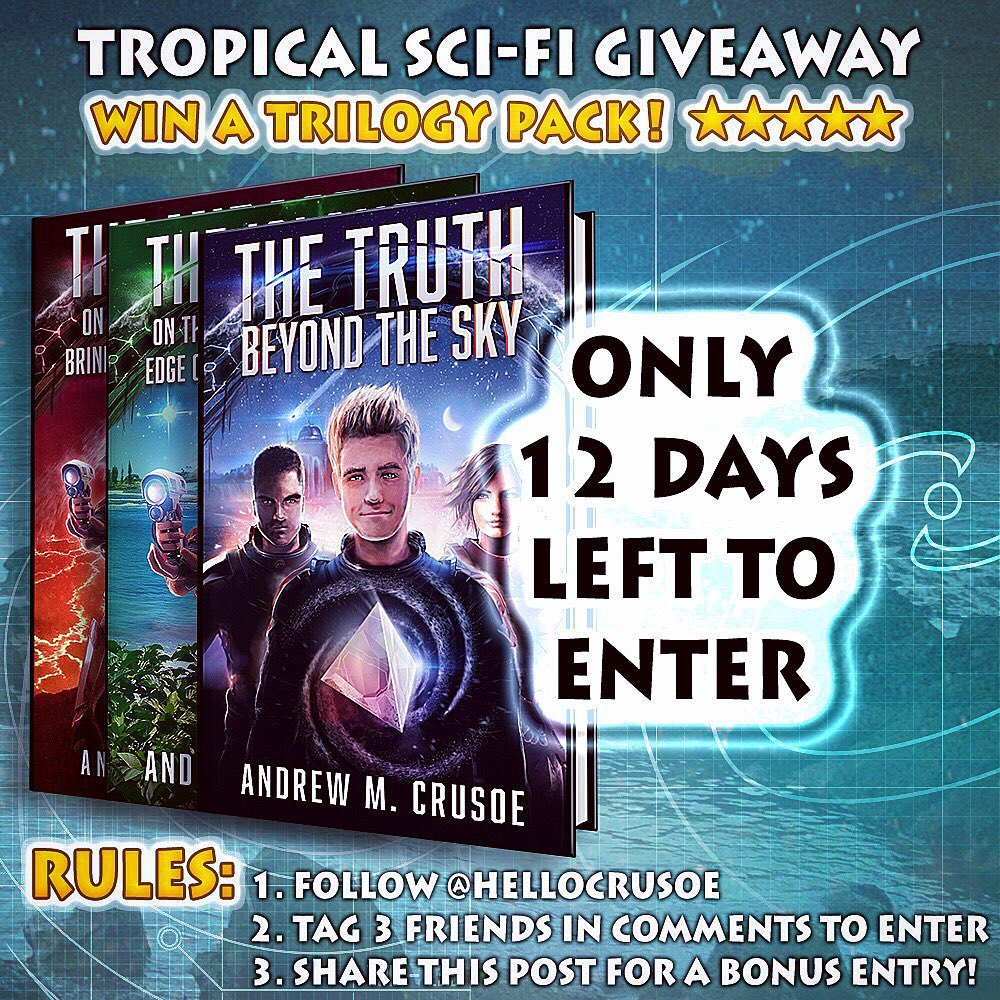 12 DAYS LEFT to enter Tropical Sci-Fi Trilogy giveaway and get a free book