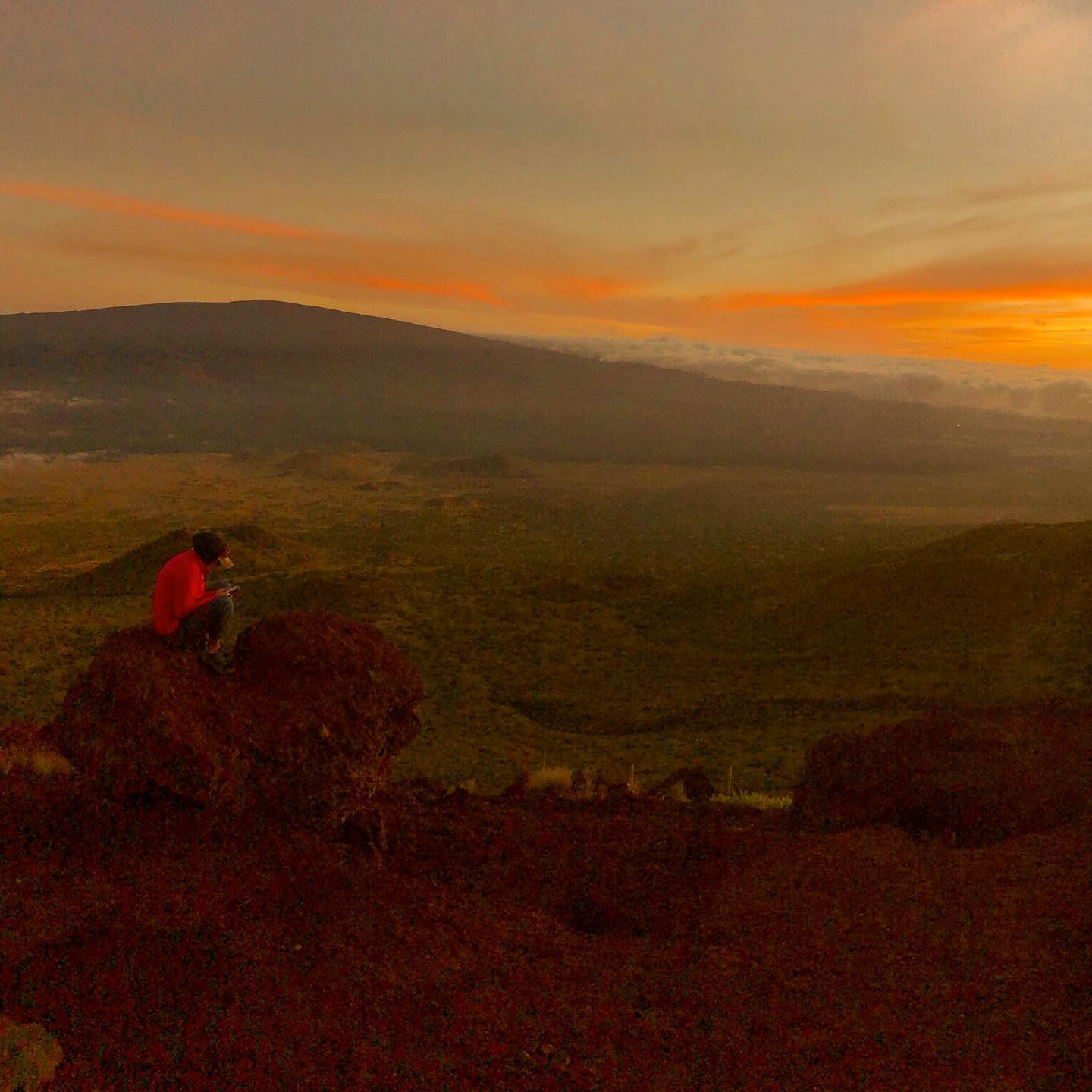 Pink on Mauna Kea Mountain