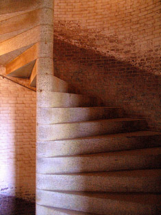 Stone spiral staircase going upward