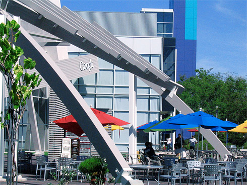 Colorful Umbrellas of Google Cafe