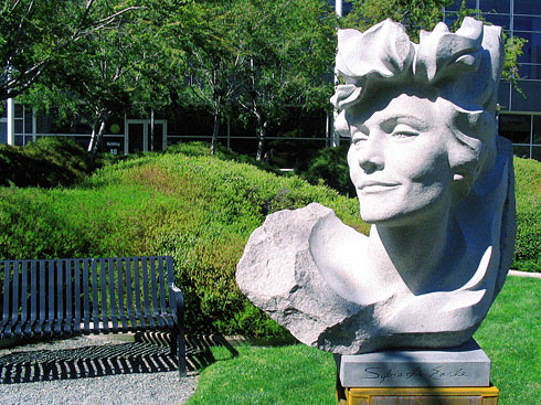 Sylvia A. Earle sculpture on Google's Lawn