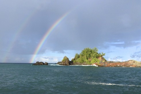 Double Rainbow over Hana Bay, Maui
