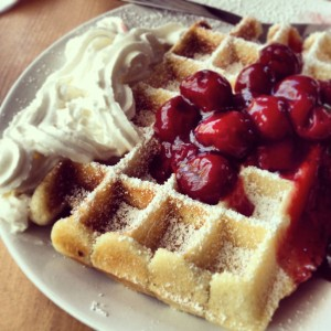 Waffle from Cafe Vux